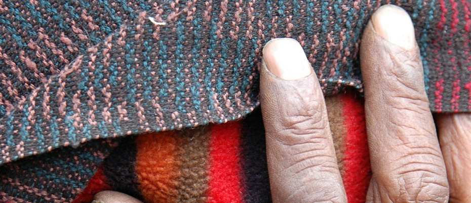 Fingers with clothing